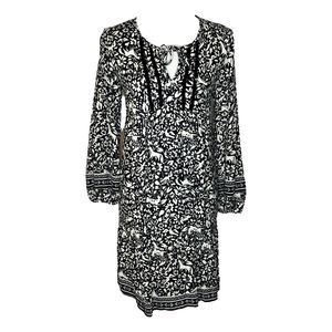 Old Navy Black and White Boho Dress Small